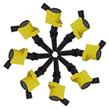 Carrep Yellow Curved Ignition Spark Plug Coil Coils (8) for Ford Crown Lincoln Mercury 5.4L 6.8L V8 DG508 FD503