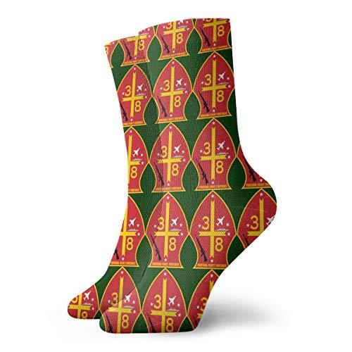 3rd Battalion 8th Marine Regiment 3D Socks Unisex Novelty Crew Sock Low Socks Athletic Socks