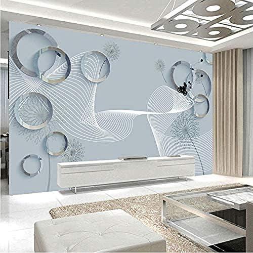 防水/防汚3D壁画ウォールペーパー家の装飾ステレオスペースリングテレビ背景壁壁画リビングルームAbstarctアート-450X300Cm