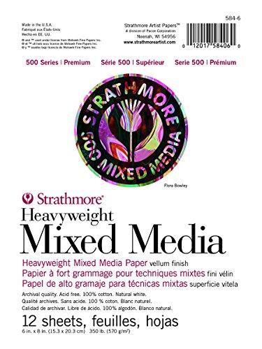 - Strathmore ((584-6 500 Series Heavyweight Mixed Media, 6