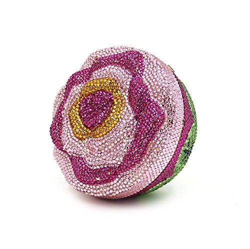 WYB Europäischen und amerikanischen Luxus-Blume Diamant-Abendbeutel / Abendbeutel / hochwertigen Kristall voller Diamanten Damen Tasche / Handhandtasche