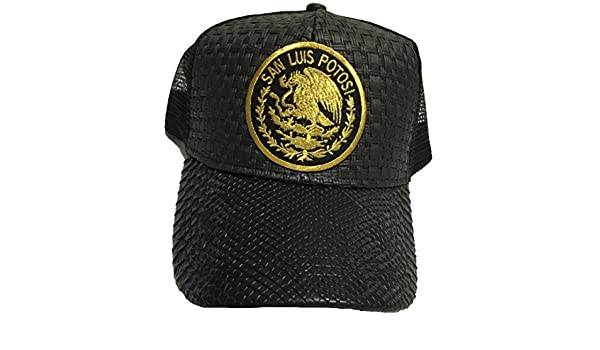 San Luis Potosí Logo Federal hat Gorra De Palma Visera De Piel Mesh Snapback at Amazon Mens Clothing store: