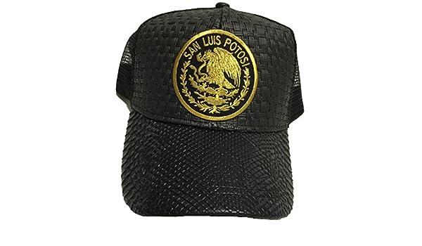 San Luis Potosí Logo Federal hat Gorra De Palma Visera De Piel Mesh Snapback at Amazon Mens Clothing store: