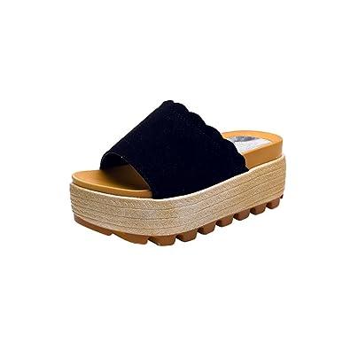 Damen Sommer Dicke Sohlen Sandalen und Hausschuhe Sommermode Weiche Atmungsaktive High Heels