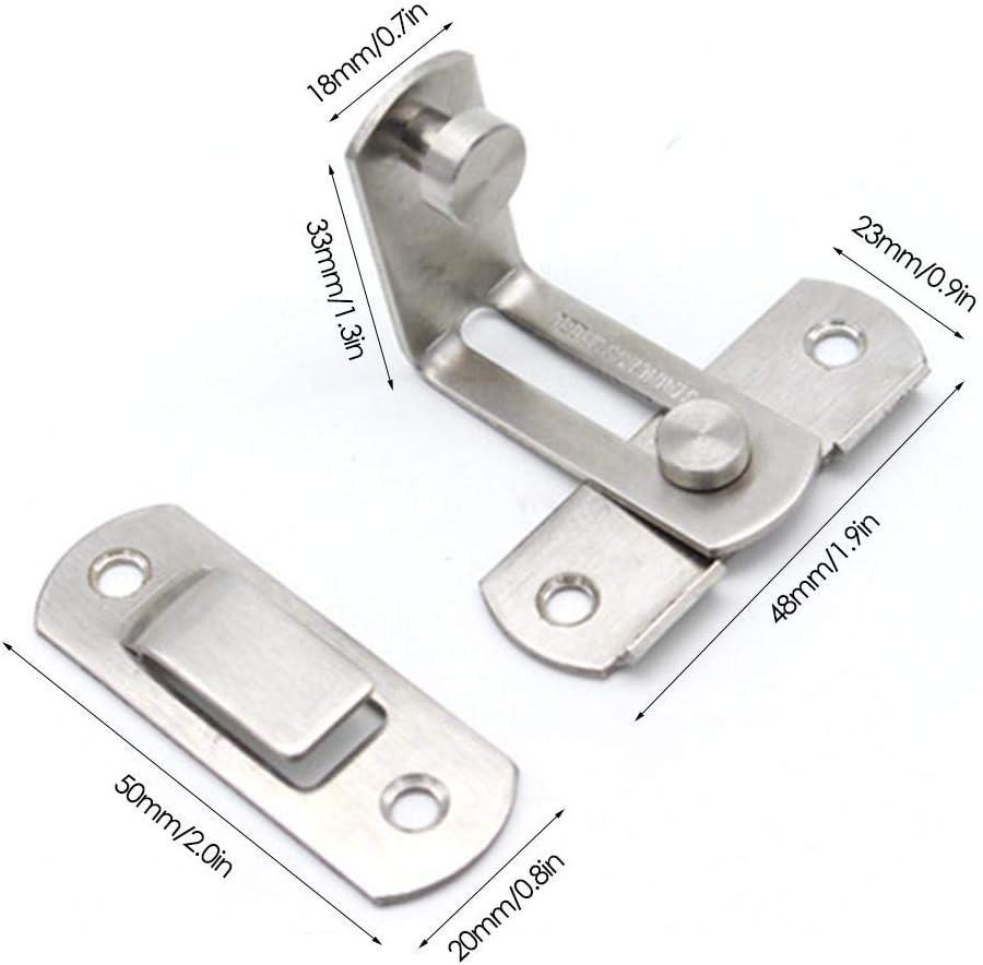 Pasador de bloqueo de acero inoxidable por cerradura de seguridad, 1 puerta de seguridad de acero inoxidable de 90 grados, cerradura de deslizamiento, cerradura en ángulo recto, pasador de bloqueo de puerta: