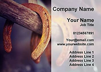 Amazon blacksmith farrier personalized business cards office blacksmith farrier personalized business cards colourmoves