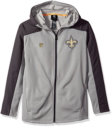 Outerstuff NFL NFL Youth Boys Delta Full Zip Jacket, Magna Pique Heather, Large(14-16)]()