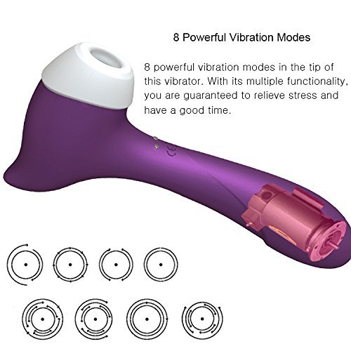 Orlena Clitoral Sucking Vibrator, G Spot Clit Dildo Vibrators for Women with Suction & Vibration, Waterproof Clitoral G Spotter Nipple Stimulator Toys for Women Adult Sex Toys for Women and Couples by CHEVEN (Image #4)