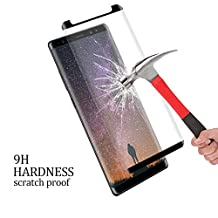 Galaxy Note 8 Screen Protector, Daker [Case Friendly] [2 pack] HD Clear [Bubble Free] [Easy to Install] Balck Frame 3D Coverage Film 9H Hardness Tempered Glass for Samsung Galaxy Note 8 (Black)