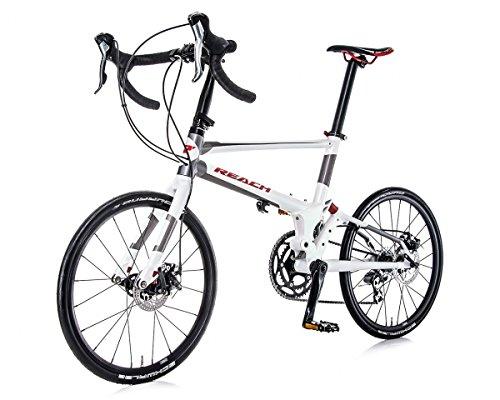 Folding Bikes REACH R20 (BLACK OR WHITE ) ROAD (easybikestore)