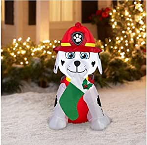 Paw patrol christmas airblown inflatable for Amazon christmas lawn decorations