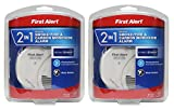 First Alert IUYEHDUH 2-in-1 Z-Wave Smoke Detector & Carbon Monoxide Alarm 2 Pack