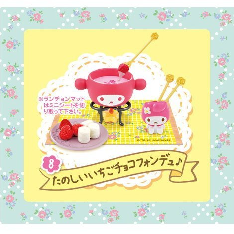 My Melody floral party [8. fun strawberry chocolate fondue ô] (single item)