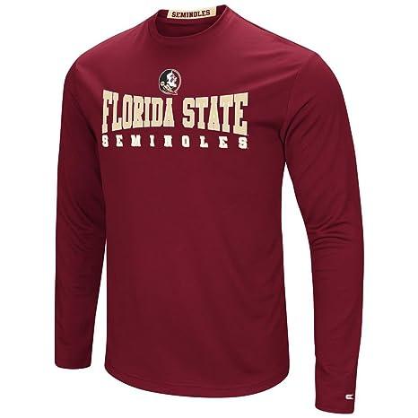 Colosseum Florida State Seminoles Mens Garnet Synthetic Streamer Long  Sleeve T Shirt (Medium) 2a1179e40