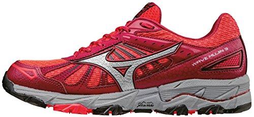 Mizuno Women's Wave Mujin 3 (W) Trail Running Shoes, Pink (Diva Pink/Silver/Persian Red), 4 UK 36 1/2 EU