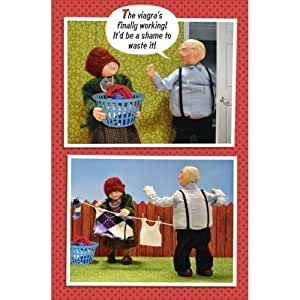 Viagra's working Birthday Card Humour Greeting Cards Constipation