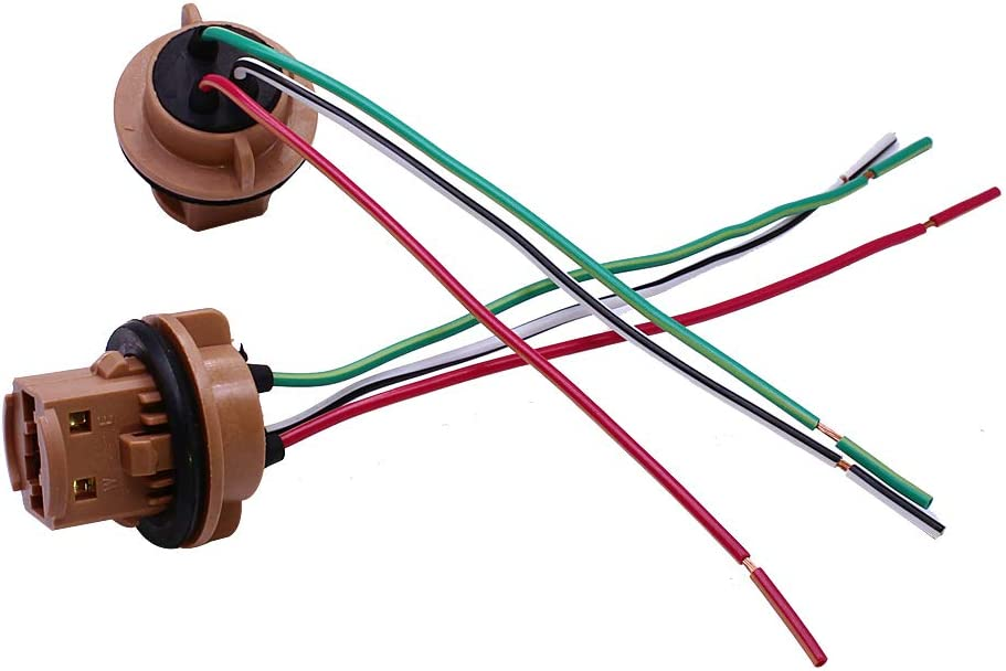 HUIQIAODS 2 Pcs PY21W 1156 Turn Signal Brake Light Bulb Socket Plug Wire Harness Connector