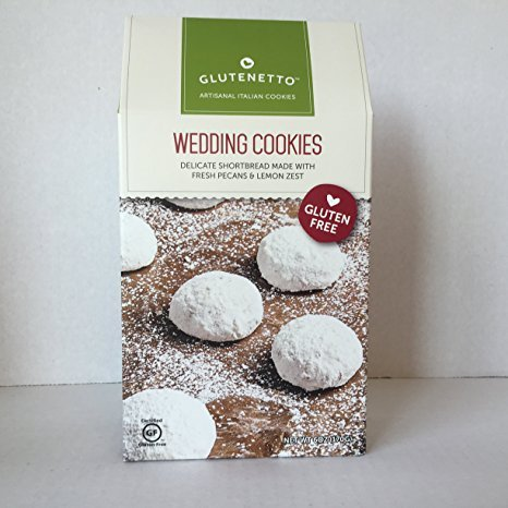 GLUTEN FREE Cookies Glutenetto Gourmet Bundle: Shortbread Wedding & Assorted Biscottini Plus a Bonus Free Gluten-Free Nut-Free No-Bake Candy Recipe from Z-Organics. Great Healthy GF Bundle (3 Items)