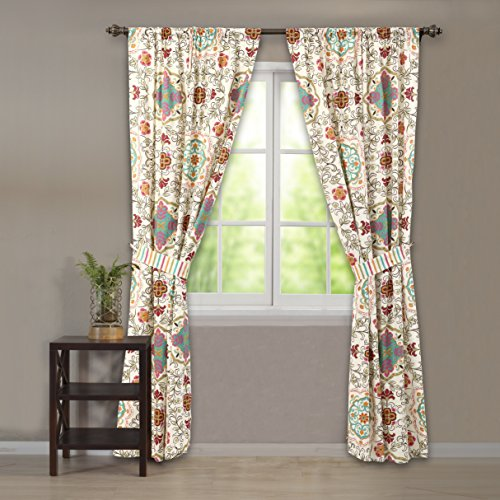 Greenland Home Esprit Spice Curtain Panel Pair (with tieb...