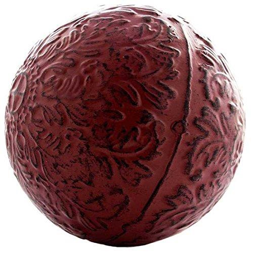 Red Metal Decorative Sphere Design Decor - ChristmasTablescapeDecor.com