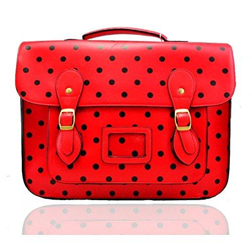 Craze London - Bolso estilo cartera de Material Sintético para mujer red&black