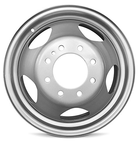 - Road Ready Car Wheel For 2008-2010 Chevrolet Silverado 3500 GMC Sierra 3500 17 Inch 8 Lug Silver Steel Rim Fits R17 Tire - Exact OEM Replacement - Full-Size Spare