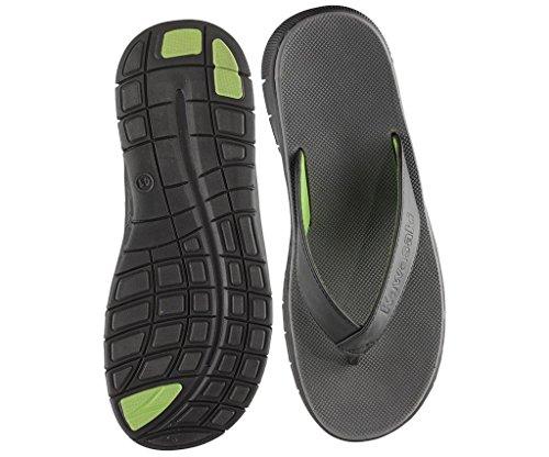 Kawasaki Men's Thong Sandals Black/Green vXd6l7G