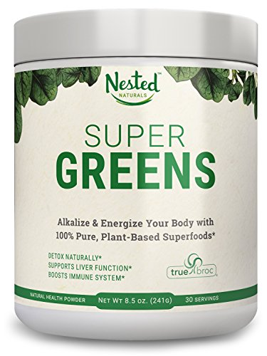 SUPER GREENS | Veggie Greens Superfood Powder - 20 Organic Ingredients: Spirulina, Chlorella, Spinach, Broccoli, Barley Grass + More - Plus Organic Fruits, Probiotics, and Enzymes | Non-GMO, No - Plus Miracle Fruit
