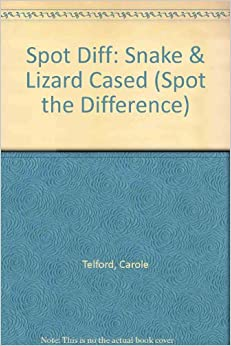 Book Spot Diff: Snake and Lizard Cased (Spot the Difference)