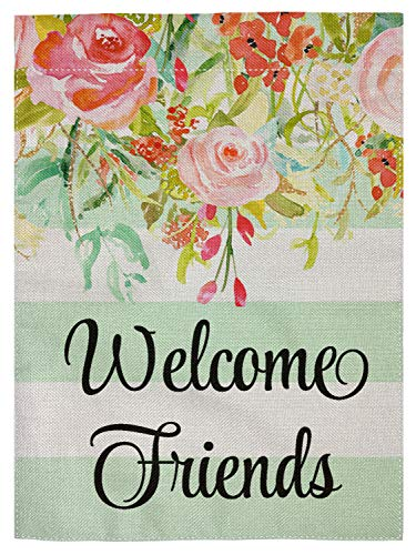 pingpi Personalized Garden Flag-Welcome Flag-Welcome Friends-Farmhouse Decor-Yard Decor-Outdoor Decor-Garden Flag 12.5