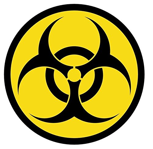 que Biohazard Symbol Car Stickers Weatherproof Safety Labels Graphics Decor Laptop Decal Window Wall Room Home Art Funny Vinyl Sticker Decals Patches Size 2