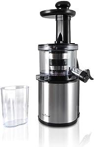 NutriChef Stainless Steel Countertop Juicer - Electric Masticating Slow Juice Maker and Extractor Machine For Fruits Like Lemon, Orange, Lime & Vegetables - PKSJ30