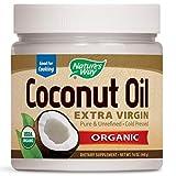 Nature's Way USDA Organic Extra Virgin Coconut Oil- Pure, Cold-Pressed, Non-GMO, 16 Ounces