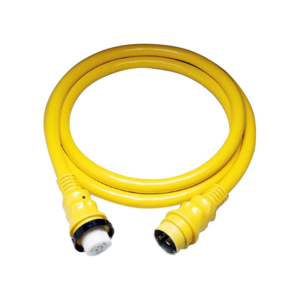 Marinco 50A 125V Shore Power Cable - 50' - Yellow