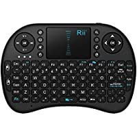 Rii i8Mini 2,4GHz Touchpad Teclado inalámbrico con Mouse para PC, Pad, Xbox 360, PS3, Google Android TV Box, HTPC, IPTV (Negro)
