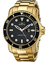 Invicta Mens 15351 Pro Diver Gold Ion-Plated Stainless Steel Watch