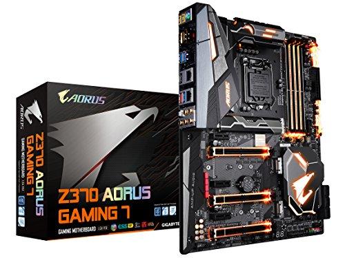 GIGABYTE Z370 AORUS Gaming 7 (Intel LGA1151/ Z370/ ATX/ 3xM.2/ M.2 Thermal Guard / Front USB 3.1 /ESS Sabre DAC /RGB Fusion/ Fan Stop /SLI/ Motherboard)