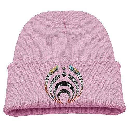 (Unisex Beanie Hat Winter Hats Winter Bassnectar Icon Solid Logo Beanie Cap Touques WinterHats Pink)