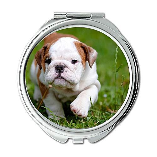 Mirror,Compact Mirror,English Bulldog pitbull dog,pocket mirror,1 X 2X - Venice Bathroom Fl Mirrors