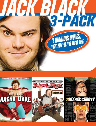Jack Black 3 Pack (Nacho Libre / School of Rock / Orange County) (School Of Rock Jack Black)
