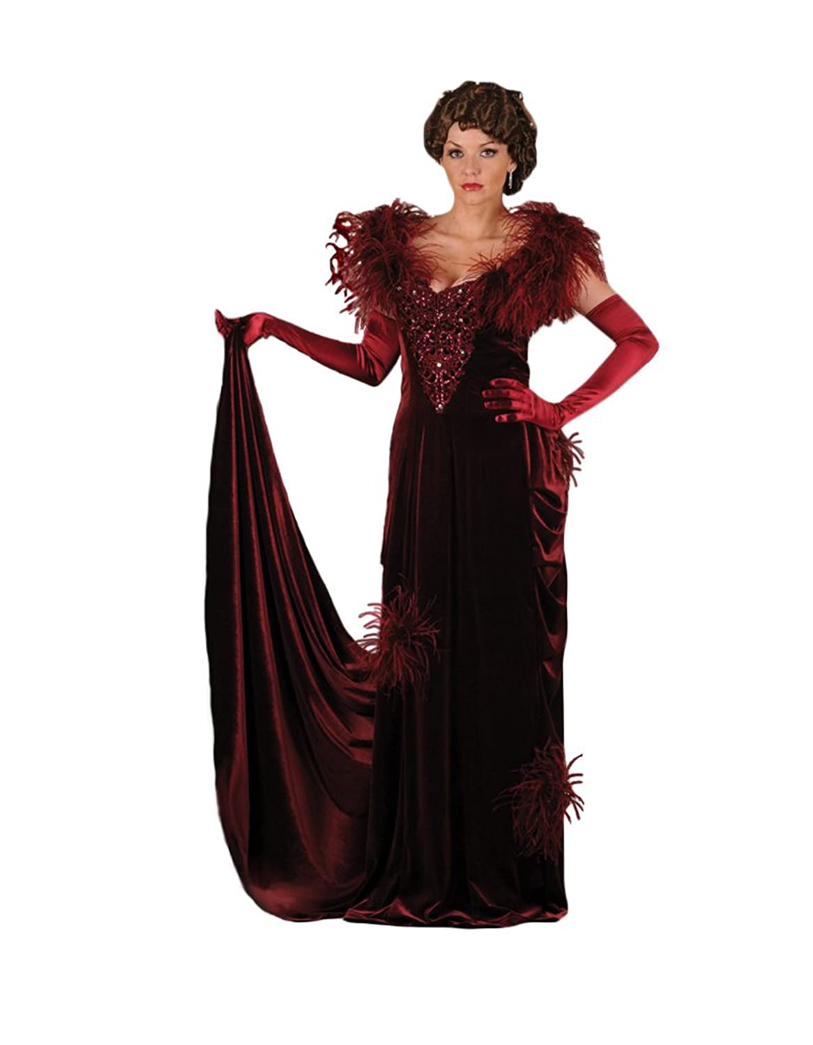 Victorian Costume Dresses & Skirts for Sale  Scarlett OHara Burgundy Gown Theater Costume- LIMITED QUANTITY $499.99 AT vintagedancer.com