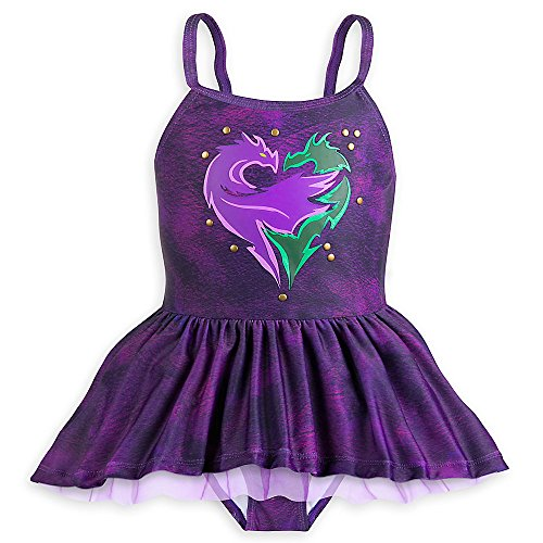Disney Descendants Two-Piece Swimsuit For Girls Size 9/10 (Piece Disney One Swimsuit)