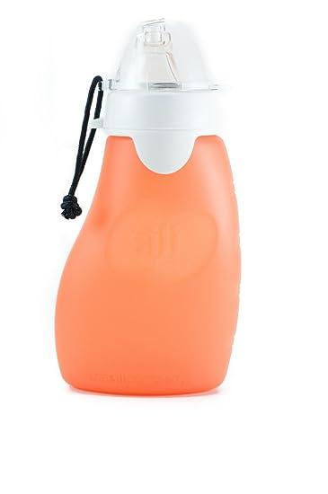 The Original Squeeze 4 Oz Orange Silicone Squeeze Reusable and Refillable