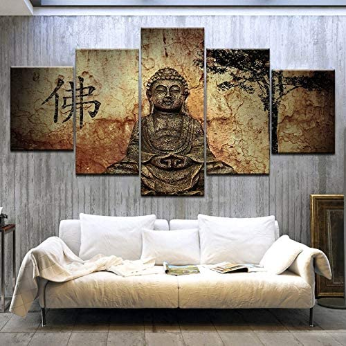 Haochenli188 Affiches Abstraites Religion Bouddha Mur Art