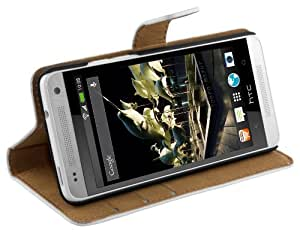 Mumbi - Funda con tapa para HTC One Mini (piel)