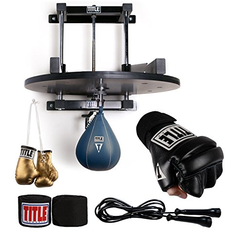 Title Boxing TITLE Ultimate Speed Bag Set, Black, Large