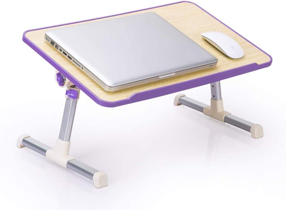 SDAKVDNS Home Notebook Small Table Color : B, Size : S Rugged Quick Opening Ideal for Home and Travel Foldable and Portable