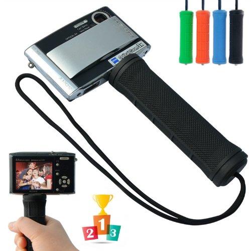 First2savvv ZP-B-01 black Self-portrait telescopic handheld Pole Arm monopod Camcorder/Camera/mobile phone tripod mount adapter bundle for IKON COOLPIX S01 SONY DSC-WX200 DSC-T700 DSC-W220 DSC-WX50 DSC-W630 DSC-W670 DSC-W620 DSC-W610 DSC-WX200 DSC-WX80 DSC-WX60