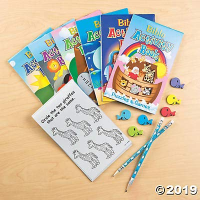Fun Express Bible Activity Pads (12 Books of 48 Pages Each) Sunday School Supplies: Toys & Games
