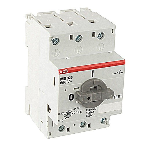 ABB MS325-20 Manual Motor Starter, 20 Rated Amps, 16.0-20.0 Amps Range
